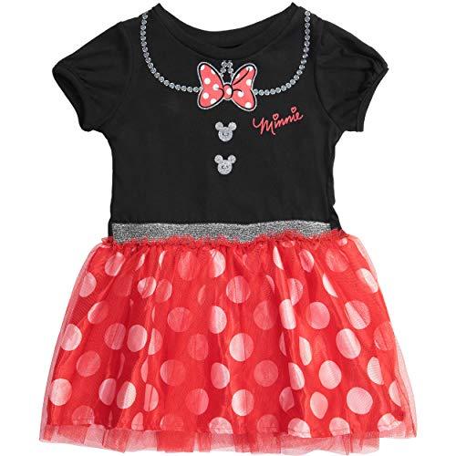 Disney Minnie Mouse Toddler Girls' Costume Tutu Dress, Black/Red 3T ()
