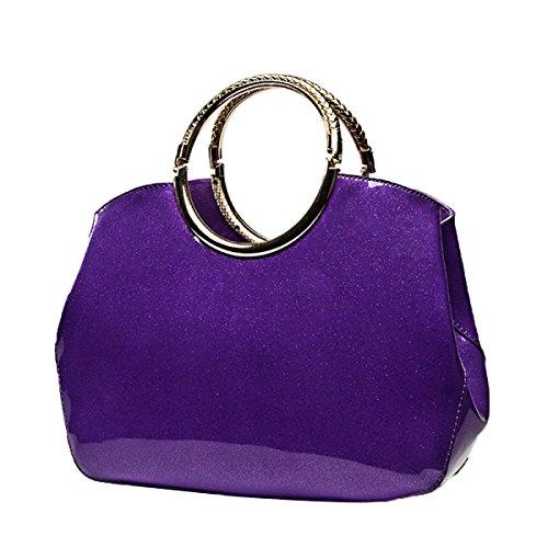 Bolso De Hombro Del Bolso De Hombro De La Charol De Las Mujeres,Purple Purple
