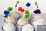 24pcs Dinosaur Cupcake Toppers Cake Picks Kids Birthday Party Decoration Baby Shower Candy Bar