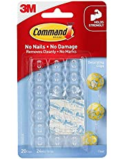 Command 17026CLR-ES Decorating Clips, Clear, 20-Clips