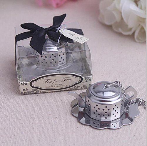 100pcs Stainless Steel Teapot Tea Infuser Tea Strainer Filters For Wedding Favor by cute rabbit