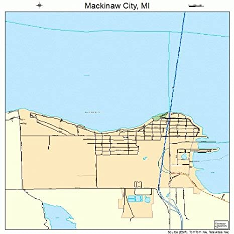Amazon.com: Large Street & Road Map of Mackinaw City ... on silver lake sand dunes mi map, ohio mi map, buffalo mi map, milwaukee mi map, michigan michigan city map, boise county idaho zip code map, morley mi map, toledo mi map, hammond bay mi map, ontonagon county mi map, green bay mi map, thunder bay mi map, tittabawassee river mi map, grand traverse county mi map, mendon mi map, barrington mi map, petoskey michigan city map, alcona county mi map, missaukee county mi map, bay view mi map,