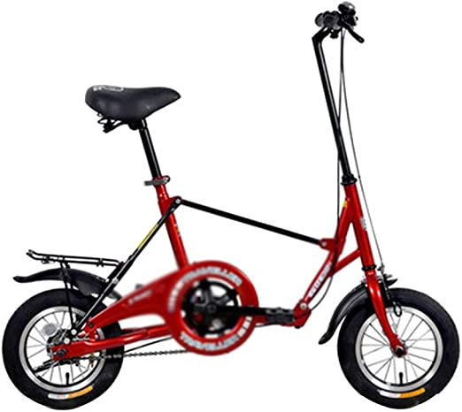 Paseo Bicicleta Bicicleta Pequeño Plegable Mini 12 Pulgadas Estudiante Adulto Hombres Y Mujeres For El Trabajo De La Bicicleta (Color : Red, Size : 110 * 60 * 96cm): Amazon.es: Hogar