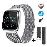 CatShin Smart Watch Fitness Tracker Watch with Heart Rate Monitor-CS08 Waterproof IP68 Pedometer