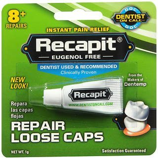 Recapit Loose Cap Dental Repair - 8 Repairs, Pack of 2