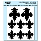 Fleur De Lis Assorted Sizes - 4 Sheets of Chalkboard Vinyl Stickers - Container Bin Labels Drink Markers