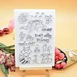 Welcome to Joyful Home 1pc Cute Animals Rubber Clear Stamp for Card Making Decoration and Scrapbooking