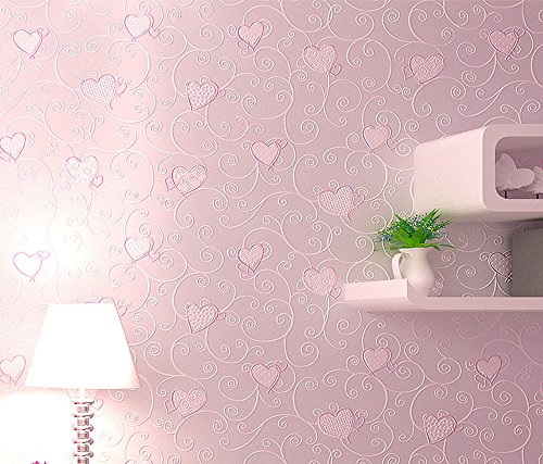 Vanila 29-111 Non-woven Removable Contemporary Wallpaper for Home Decoration 1.74ft X 33ft (Pink, Roll) - Cheap Removable Wallpaper