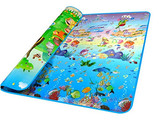 Cheesea Kids Two-Sided Waterproof Educational Play Game Mat Thickness Baby Crawling Pad