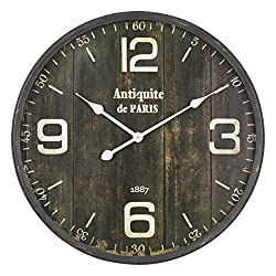 Aspire Wall Clock Therese Round, Brown