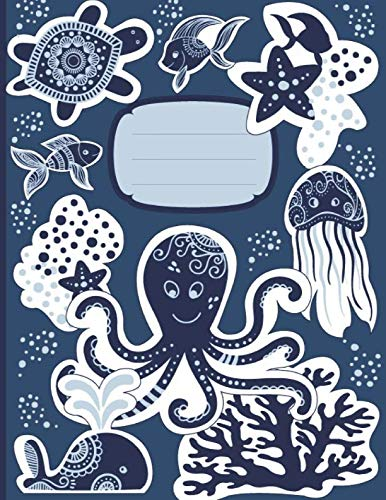 My Big Write and Draw Journal: Ocean Underworld Drawing Journal. Whales and Jellyfish Marine sea Life Sketch Story Book for kids age 8-12, for school ... 11 inches. (Underwater Sealife Smart Books)