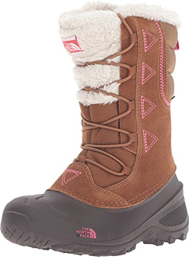 The North Face Childrens Shellista Lace II Boot,Dachshund Brown/Cabaret Pink,US (11 Little Kid M)
