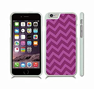iStar Cases? iPhone 6 Plus Case with Chevron Pattern Pink Cupcake/ Deep Pink Stripe , Snap-on Cover, Hard Carrying Case (White)