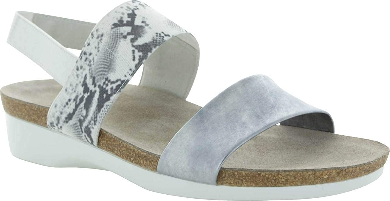 20149d336 Amazon.com | Munro Womens Pisces Open Toe Casual Slingback Sandals, Silver,  Size 8.5 | Shoes