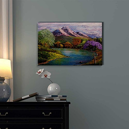 Beautiful Scenery Landscape of The Spring Valley in Oil Painting Style Wall Decor