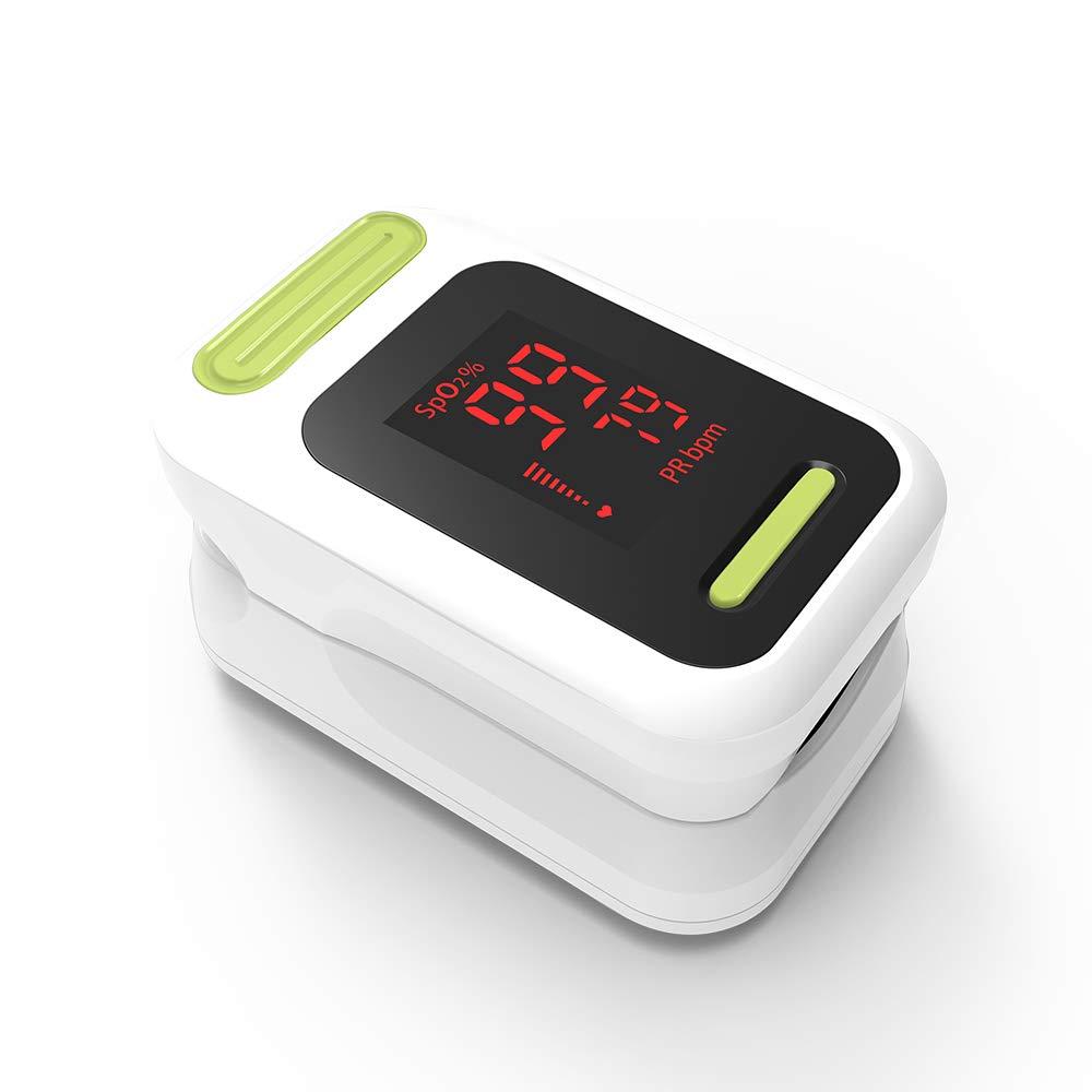 Pulse Oximeter Fingertip Blood Oxygen Saturation Monitor Sports Exercise SpO2 Fitness Tracker Health Care Yonker YK-83LED