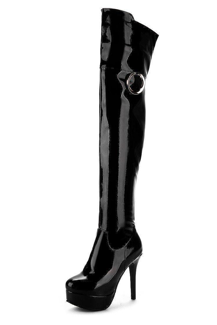CXQ-Stiefel QIN&X Damen Stiletto High Heels lange Stiefel Schuhe