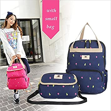 Amazon.com : Multifunctional baby bags mummy maternity backpacks shoulders black nappy bag with small messenge mochila maternal bags : Baby