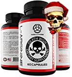 _ Extra Strength L-ARGININE by Death Wish Supplements * Nitric Oxide -for- Muscle Growth,Male Enchantment Pills,Nitric Oxide Booster,TOP Rated, Nitric Oxide Boosters,L Arginine Plus