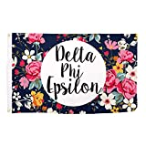 Delta Phi Epsilon Floral Pattern Letter Sorority Flag Greek Letter Use as a Banner Large 3 x 5 Feet Sign Decor DPhie Review