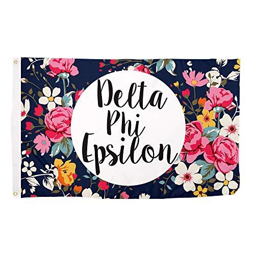 Delta Phi Epsilon Floral Pattern Letter Sorority Flag Greek Letter Use as a Banner Large 3 x 5 Feet Sign Decor DPhie Review