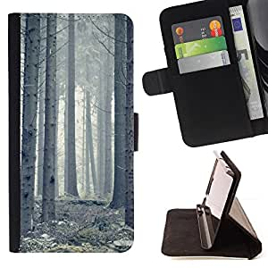 BullDog Case - FOR/Samsung Galaxy Core Prime / - / Plant Nature Forrest Flower 63 /- Monedero de cuero de la PU Llevar cubierta de la caja con el ID Credit Card Slots Flip funda de cuer
