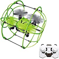 ToyPark RC Drone, 2.4GHz6 Axis Gyro Wall Climbing Remote Controlled Quadcopter with Protective Frame,3D Flips and One Key Return Functions