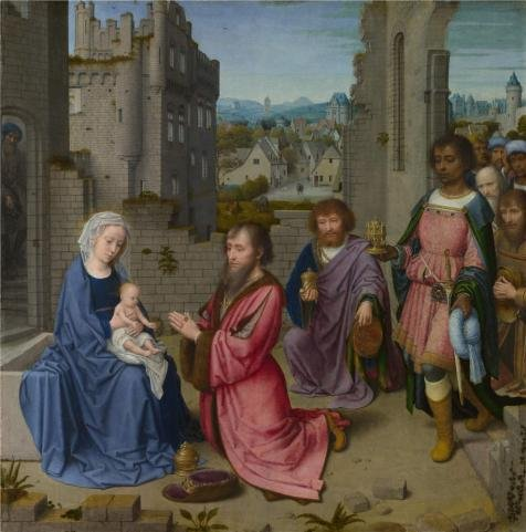 Oil Painting 'Gerard David-Adoration Of The Kings,1515' Printing On Perfect Effect Canvas , 12x12 Inch / 30x31 Cm ,the Best Gift For Bf And Gf And Home Decor And Gifts Is This Imitations Art DecorativePrints On Canvas