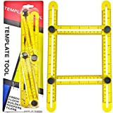 RAK Ultimate Template Tool Angle Izer with Adjustable Ruler Measures All Shapes, Forms and Angles - Must Have Tool for DIY Handyman, Construction