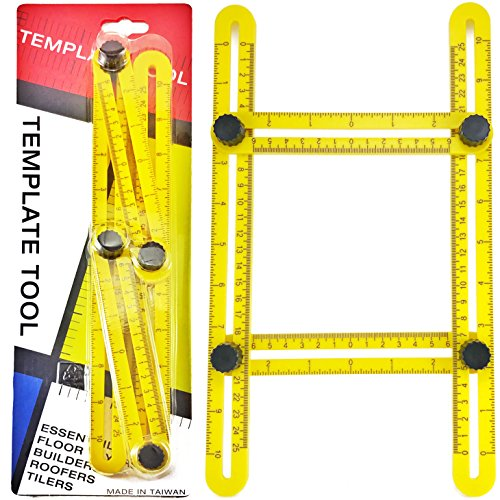 RAK Ultimate Template Tool Angle Izer with Adjustable Ruler Measures All Shapes, Forms and Angles - Must Have Tool for DIY Handyman, Construction (Leveling Patio Pavers)