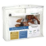 3-Piece Bed Bug Prevention Pack with InvisiCase 9-Inch Mattress and Box Spring Encasement Bundle, California King