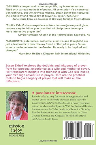 Prayer that must the power of conversational prayer susan ekhoff prayer that must the power of conversational prayer susan ekhoff 9781496185563 amazon books fandeluxe Choice Image