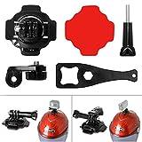 Fantaseal® 5-in-1 360 Degree Rotatable Action Camera Helmet Rotary Mount Kit Adhesive Mount for GoPro Helmet Mount for SONY FDR X-3000V X1000VR HDR AS 300 AS-10 AS-15 AS-20 AS-30 AS-50 AS-100 AS-200 AZ-1 GoPro Hero 5 / 4/3+/3/ Session / SJCAM SJ4000 SJ5000 / / Garmin Virb XE / Xiaomi Yi / DBPOWER QUMOX etc GoPro-Like Action Cam + Nikon Canon Sony Pentax Olympus Panasonics Lumix Ricoh Kodak Casio etc Waterproof Camera
