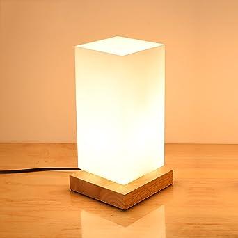 nachttischlampe holz