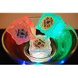 Set of 6 Litecubes Brand 8 Mode MultiColor RAINBOW Light up LED Ice Cubes