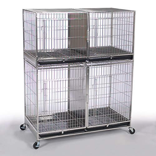Proselect ZW55401 87 X-Tall Stainless Steel Modular Cage Bank