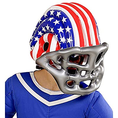 WIDMANN 04867 Children's Inflatable Football Helmet with American Stars and Stripes One Size, Silver: Toys & Games