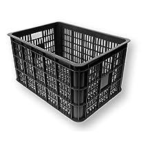 Basil Crate caja de plastico negra