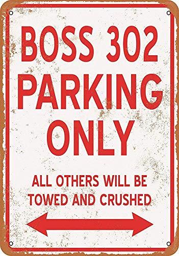 BOSS 302駐車場のみ 金属板ブリキ看板注意サイン情報サイン金属安全サイン警告サイン表示パネル