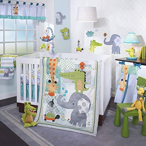 Lambs & Ivy Crib Bedding Set, Yoo-Hoo, 4 Piece