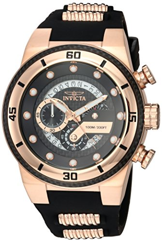 Invicta Men s S1 Rally Stainless Steel Quartz Watch with Silicone Strap, Two Tone, 26 Model 24226