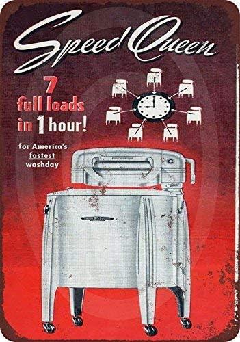 qidushop 1949 Speed Queen Lavadora Vintage Reproducción ...
