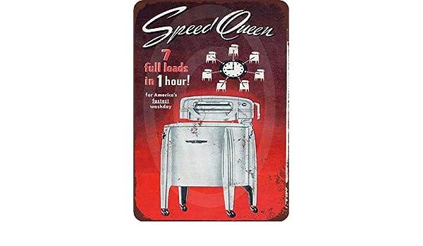 qidushop 1949 Speed Queen Lavadora Vintage Reproducción Retro ...