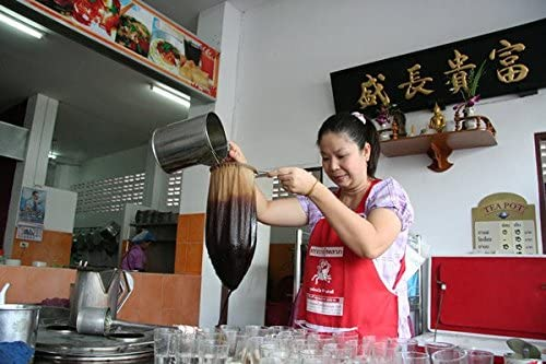 Blue-mango Thai filtre /à th/é en coton naturel dAsie du Sud-est tir/é Passoire /à th/é en acier inoxydable avec fermeture /Éclair amovible Passoire Sock Thai Style.