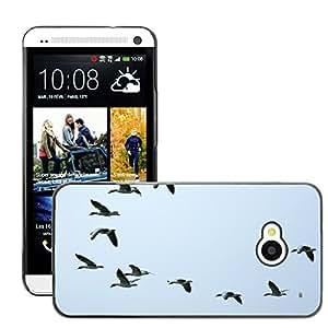 Super Stella Slim PC Hard Case Cover Skin Armor Shell Protection // M00146814 Flock Of Birds Swarm Migratory Birds // HTC One M7