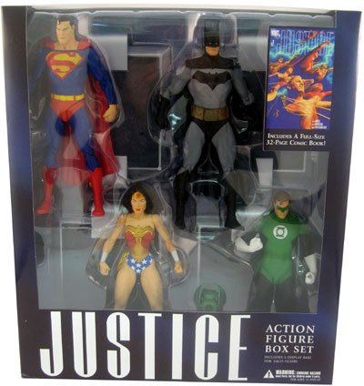Justice  Action Figures Collector Box Set Of 4   Issue  1