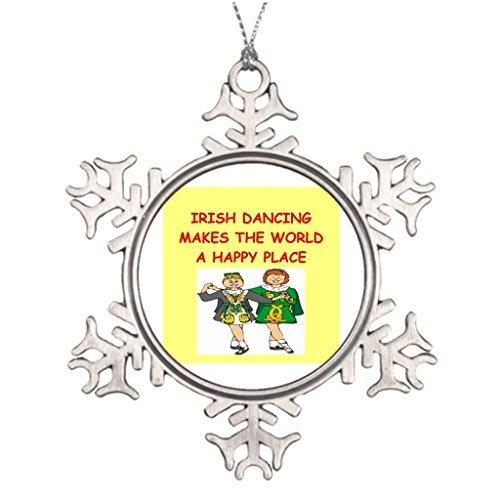 narxekezhaeta Ideas for Decorating Christmas Trees Irish Dancing Western Christmas Snowflake Ornaments Tree Decor
