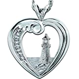 Thomas Kinkade Beacon Of Hope Lighthouse Pendant Necklace by The Bradford Exchange