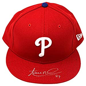 Aaron Nola Signed Philadelphia Phillies New Era MLB Authentic Collection 59FIFTY Cap