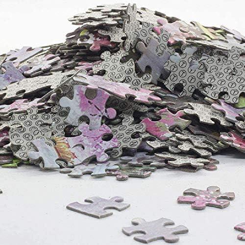 SweetBuys Puzzle 1000 Teile, Langhaariges Mädchen Sitzen Premium Holz Puzzel Für Erwachsene, Für Familienkinder Erwachsene